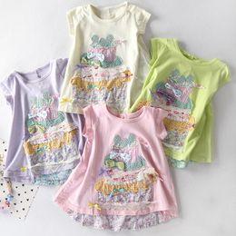 $enCountryForm.capitalKeyWord Australia - Children's embroidered T-shirt Skirt Girls round collar half sleeve summer cotton casual clothes lovely blouse trend