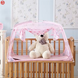 infant baby children mosquito Australia - Home textile pink mosquito net for children kids baby infant bed net mongolian yurt mesh netting folding purple cute insect