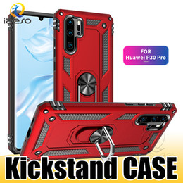 Apple smArt ring online shopping - For Huawei P30 Pro P20 P Smart Y6 Y7 Hybrid Armor Kickstand Phone Case Shockproof Metal Ring Holder Hard Back Cover izeso