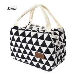 kids tool box set 2020 - New Fashion Lunch Bag For Women Kids Men Insulated Canvas Box Tote Bag Thermal Cooler Food Lunch Bags Picnic Food Bag D1