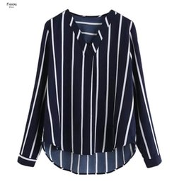 striped printed blouse Australia - Women Blouses Polka 2019 Striped Print Long Sleeve V Neck Women Shirts Ladies Blouses Tunique Female Blusas
