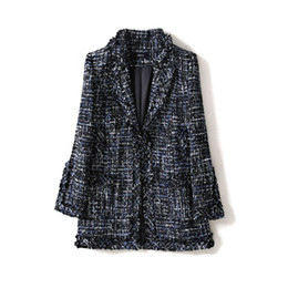 women hooded vest spring Australia - New version of women s small suit in spring autumn and winter medium and long small fragrance woven wool jacket