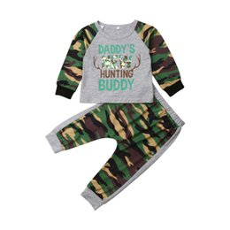 toddler boys cool fashion Australia - Fashion Toddler Boy Clothes Camouflage Long Sleeve Tops T-Shirt Pants 2Pcs Outfit Set Soft Cotton Cool Boy Clothes Set