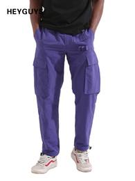 Men Street Clothes Australia - Heyguys Fashion Jogger Wear Hip Hop Men Clothing Cool Loose Casual Pants West Street C19040402