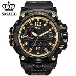 Smael Watches Australia - Smael Mens Wathes Top Brand Luxury Fashion Digital Watch Men Quartz Led Casual Sport Military Watches Men's Relogio Masculino Y19052001