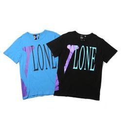 $enCountryForm.capitalKeyWord UK - 2019 Europe America VLOVE Blue Purple V-print T-shirt Hip Hop Letter Logo Short Sleeve T-shirt Men Miami POP Guerrilla Shop Limited TEE