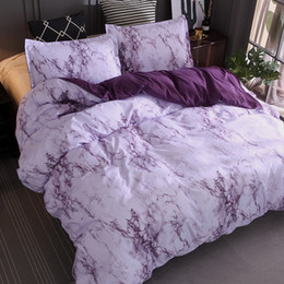 Wholesale Modern Marble Pattern Bedding Sets Duvet Cover Set Bed Set Twin Double Queen Quilt Cover Bed linen Duvet Cover Bedspread Set