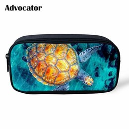 $enCountryForm.capitalKeyWord NZ - ADVOCATOR Sea Turtle 3D Pattern Pencil Bag Cosmetic Bag for Students Pen Pouch Cases Zipper Children Travel Organizer Mochila
