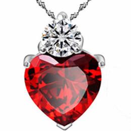 Necklaces Pendants Australia - Wish Ornaments Heart Heart Zircon Pendant Star With Heart-shaped Necklace