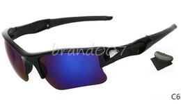 Usa Sunglasses Canada - Special Price men's sunglasses black frame Blue lens sport sunglass 11color shipping to USA free with box.