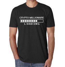 9c3e27f9 Crypto Millionaire Loading Funny Parody Bitcoin Printed Cotton Men's T-Shirt  Top harajuku Summer 2018 tshirt