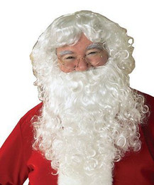 $enCountryForm.capitalKeyWord Australia - Father Christmas Xmas Wizard Old Man Fancy Dress SANTA CLAUS WHITE WIG & BEARD Anime queen Cosplay hair wigs Free deliver