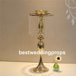 $enCountryForm.capitalKeyWord Australia - New style Gold Crystal Tall Flower Stand Vases Centerpieces for Wedding Table best0834