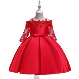 Dresses For Teenagers NZ - Girls Dress Bow Kids Dress 2019 Summer Tutu Clothes Wedding Birthday Party Dresses For Girls Children's Costume Teenager Prom Designs