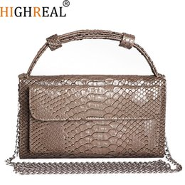 Genuine Leather Crossbody Handbags Wholesale Australia - Crocodile Women Messenger Bag Genuine Leather Chain Strap Day Cutches Small Shoulder Crossbody Handy Wallet Ladies Handbag