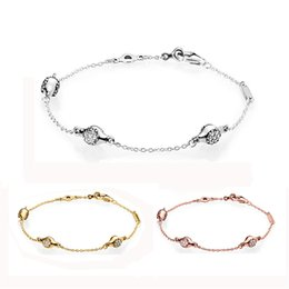 bezel setting diy Canada - 925 Sterling Silver Bracelet Modern Lovepods With Crystal Chain Link Bracelet Bangle Fit Bead Charm Diy Europe Jewelry