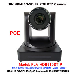 Ip camera ptz poe online shopping - Black Color HD Video G SDI PTZ Video Church IP POE Camera with x Optical Zoom for Teleconferencing System