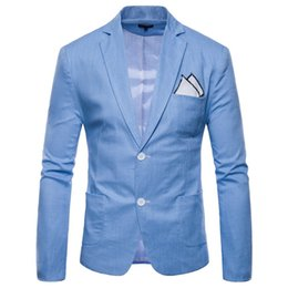 $enCountryForm.capitalKeyWord Australia - Mens Blazers Single Breasted Slim Fit Suits in 9 Colors Spring Summer Fashion Party Wear for Male Plus Size M-4XL