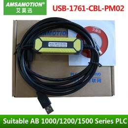 Wholesale Upgraded Version USB-1761-CBL-PM02 Suitable Allen Bradley 1000 1200 1500 Series PLC MicroLogix Programming CableTouch 8Pin USB 2.0 port
