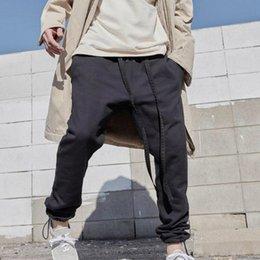 Cotton Flannel Pants Australia - 19SS Latest TOP High Street Hip-hop fog style Season 6 Jerry Sweatpants Slim Fit Cotton Leisure Trousers Streetwear ribbon pants