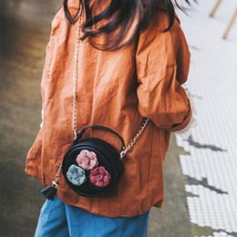 $enCountryForm.capitalKeyWord Australia - Girls Cute Flower Floral Shoulder Bag Chain Crossbody Messenger Hand Bags For Girl Kids Children Handbag Chains Fashion Pu Bag