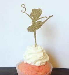 $enCountryForm.capitalKeyWord Australia - custom number glitter Ballerina girl Birthday Cupcake Topper. Cupcake Decoration. Secret Garden Party Decoration