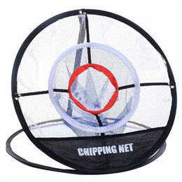 China Golf Pop UP Indoor Outdoor Chipping Pitching Cages Mats Practice Easy Net Golf Training Aids Metal + Net supplier mat practice suppliers