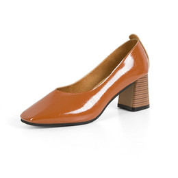 $enCountryForm.capitalKeyWord Australia - Shallow mouth single shoes women 2018 new wild fashion shoes thick with high-heeled simple professional Mary Jane