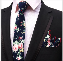 $enCountryForm.capitalKeyWord NZ - Cotton material Paisley waist 6 cm men's tie pocket towel suit