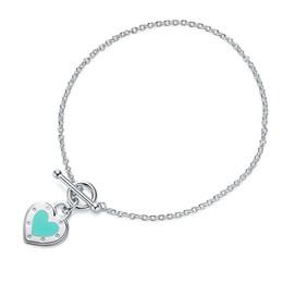 $enCountryForm.capitalKeyWord Australia - 2019 New design Sterling silver 925 toggle Heart tag shape pendant Bracelet women jewelry with logo name gift Shape Dropshipping