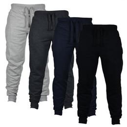 Wholesale mens sweats pants resale online – Mens Slim Fit Tracksuit Sport Gym Skinny Jogging Joggers Sweat Pants Trousers