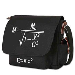 $enCountryForm.capitalKeyWord UK - Albert Einstein Theory of relativity Handbag Shoulder Casual Zipper Cross body Tote School Book Students Messenger Bag