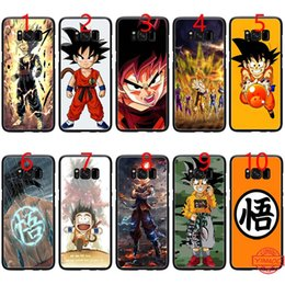 $enCountryForm.capitalKeyWord NZ - Dragon ball Z Sagas Kid Goku Soft Black TPU Phone Case for Samsung Note 9 8 S8 S9 Plus S6 S7 Edge Cover