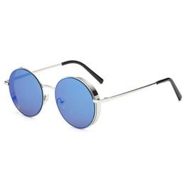 5565efb057 Gafas de sol clásicas de los hombres Caja redonda para mujeres Gafas de sol  punk Joker Marco redondo pequeño