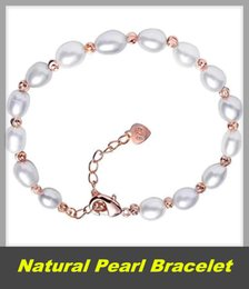 $enCountryForm.capitalKeyWord Australia - Natural Pearl Bracelet 5-6MM Beads Bracelets For Women Anniversary Jewelry Gift White Freshwater Pearl Jewellery Wholesale