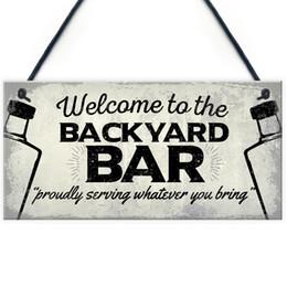 Retro Bar Garden Hanging Plaque Alcohol Man Cave Vintage Beer Gin Shed Sign