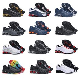 Nz ruNNiNg shoes online shopping - 2019ss New Shox R4 Designers Mens Running Shoes Luxuries NZ Sneakers Triple Black White OG Sport shoes Air Shoes Size EUR