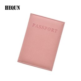 passport ticket holders 2019 - Hot Sale Fashion Leather Passport Cover Women Travel Ticket Passport Case High Quality Holder Cute Girls Cover cheap pas