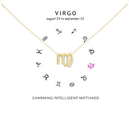 $enCountryForm.capitalKeyWord NZ - Virgo Pendant Sacred Nebula Dogeared Necklace Short Chokers Clavicle Gold Silver Chain Jewelry For Women Girls Gift Necklaces Free Shipping