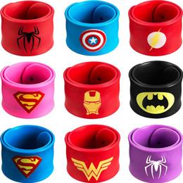 $enCountryForm.capitalKeyWord Australia - Superhero Slap Bracelet Superhero Bracelet - Kids Party Supplies - Party Favors for Kids - Boys Birthday Party Supplies 9 Pack Wristband
