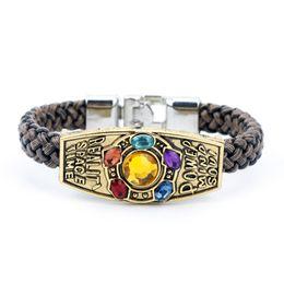 $enCountryForm.capitalKeyWord Australia - The Soul Stone Thanos Avengers Infinity War Bracelet Bangels Pure hand knitting Cosplay Costumes Accessories Fashion Jewelry