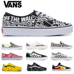 Chinese  2019 Vans Old Skool Men women Casual shoes Rock Flame Yacht Club Skateboard mens Canvas designer Sports Running Shoes Sneakers online sale manufacturers