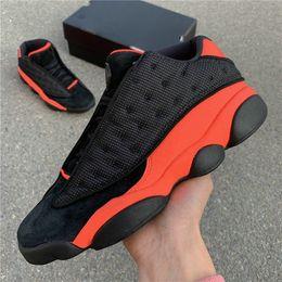 Orange Glitter Australia - Clot x 13 Low Black Infrared 23 High Quality Men Basketball Shoes 13s INFRA BRED 3M Orange Designer Sports Sneakers with box