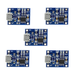 charger battery protection board Canada - TP4056 5V TENSTAR ROBOT 1A Micro USB 18650 Lithium Battery Charging Board Charger Module+Protection Dual Functions