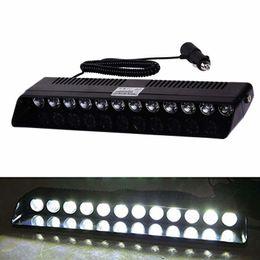 Lighting Dash Australia - Car LED Strobe Lights (12 Bulbs) 12w Portable Emergency Lighting w  14 Flash Modes   Interior Windshield or Dash Mount
