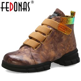 Discount boot hooks - FEDONAS Winter Fashion Microfiber Leather Female Sports Short Boots Comfortable Women Ankle Boots Big Size Casual Shoes