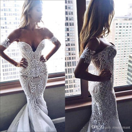 summer sex dresses Australia - New arrival Sex Lace Mermaid Wedding Dresses Sweetheart Appliques Long Custom Made Wedding Dress With Buttons Back