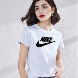 Wholesale silk screen printing shirts online – design Cotton Cut Doodle Print Women T shirt Casual O neck lady T shirt New Design Woman Tee Shirts Silk screen red letter silk screen S XL