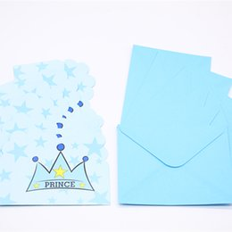 crown themes UK - Blue Crown Theme Invitation Card Party Invitation Birthday Party Theme Event Blessing