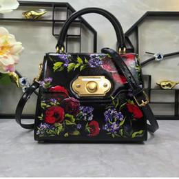 Bag Teeth Australia - New European and American Wind Printed Leather Handbag Tooth Bag Slant Bag Fashion Women's Bag